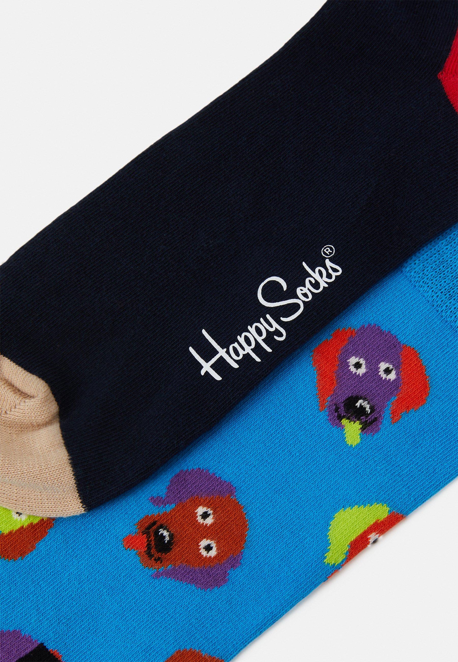 Men EMBROIDERY DOG SOCK UNISEX 2 PACK - Socks