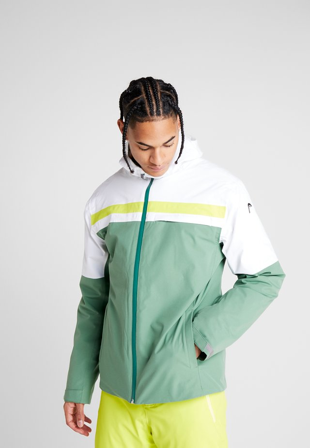 ALPINE JACKET  - Laskettelutakki - forest green/white