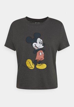 SHRUNKEN TEE  - Print T-shirt - dark grey