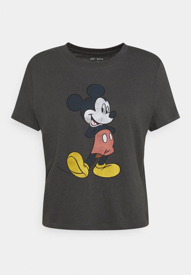 GAP - SHRUNKEN TEE  - T-shirts med print - dark grey