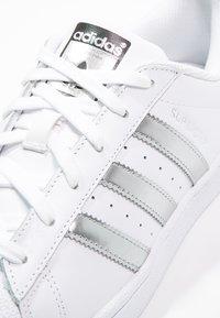 adidas Originals - SUPERSTAR - Sneakers - white/silver metallic/core black - 6