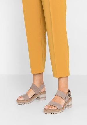 VIOLET MARS 2 BAND SANDAL - Sandals - taupe
