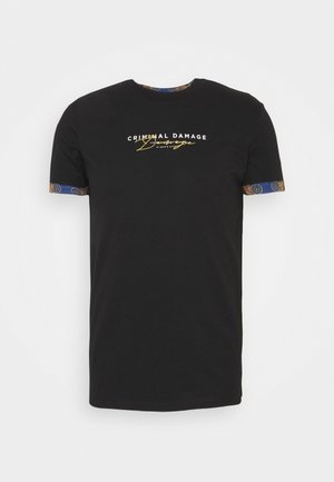 SIGNATURE TEE - Print T-shirt - black