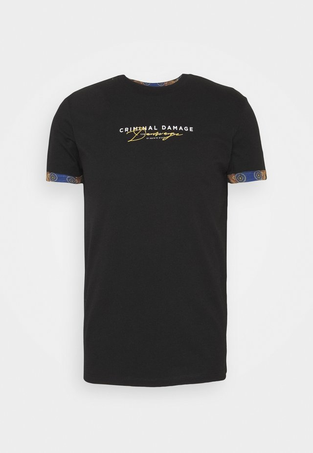 SIGNATURE TEE - T-shirt con stampa - black