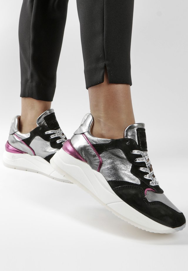 Trainers - black/sliver