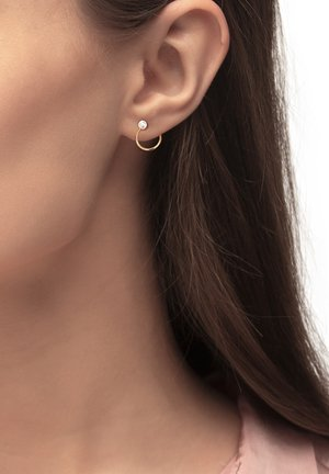 Earrings - rose gold-colored