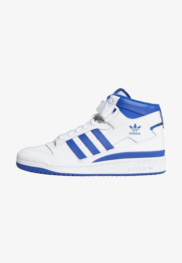 FORUM MID UNISEX - Sneakers high - ftwr white/team royal blue/ftwr white