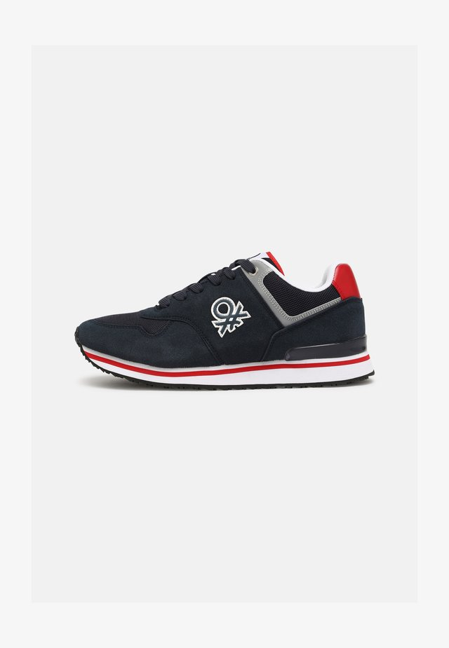 BUMBER - Sneakers basse - navy/red
