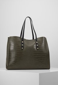 TWINSET - CROCO UNLINED - Tote bag - military - 2