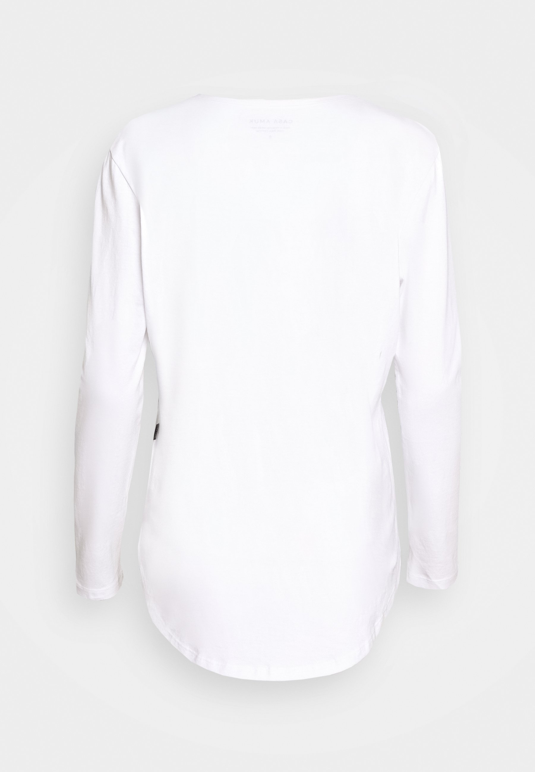 Casa Amuk LONG SLEEVE SADDLE HEM - Topper langermet - white