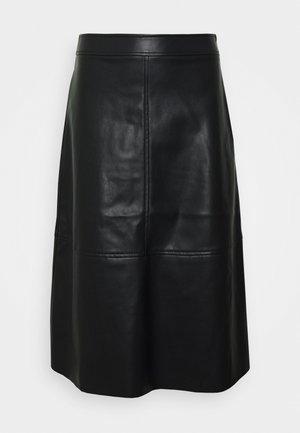 VINALIA COATED SKIRT - Áčková sukně - black