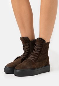 MAHONY - BERN - Lace-up ankle boots - espresso - 0