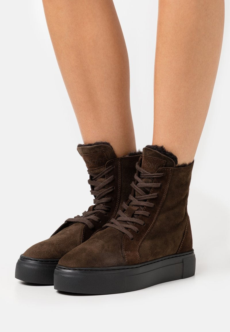 MAHONY - BERN - Lace-up ankle boots - espresso
