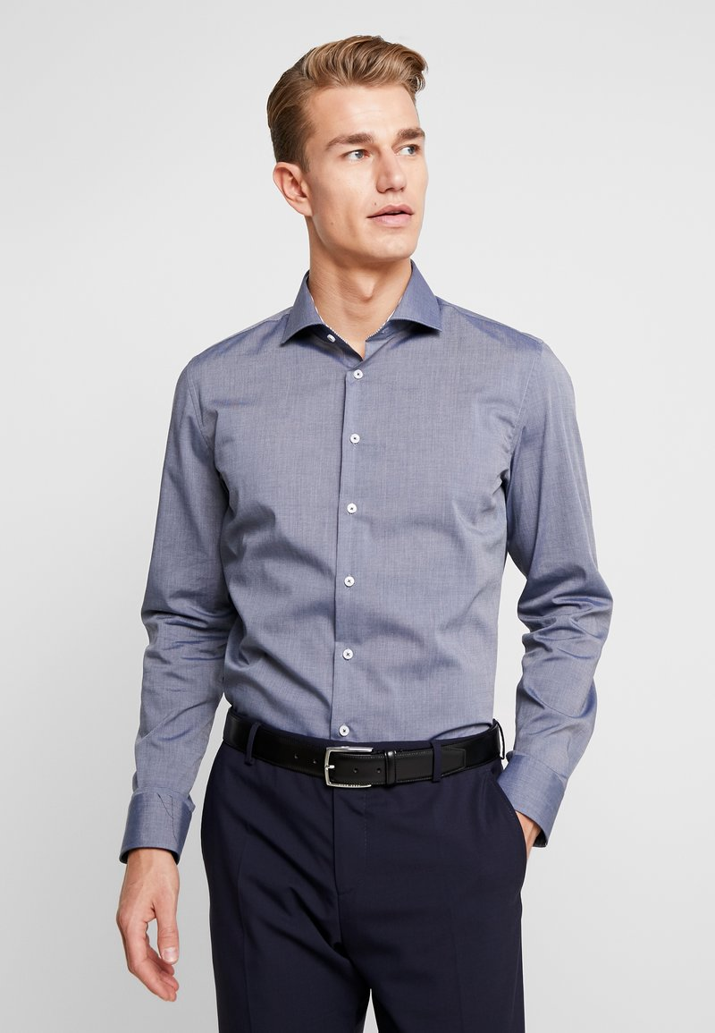 Seidensticker - SLIM FIT SPREAD KENT PATCH - Formal shirt - dark blue