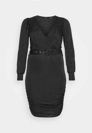 VMEIRO KNEE DRESS  - Etuikjole - black
