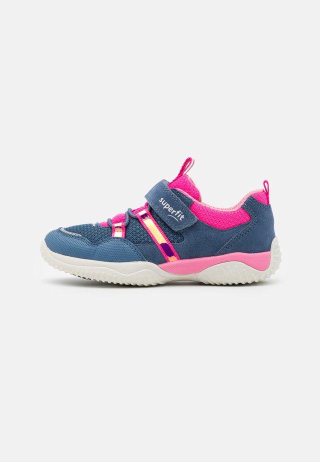 STORM - Touch-strap shoes - blau/rosa