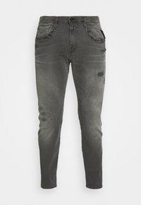 ANBASS HYPERFLEX BROKEN AND REPAIR - Jeans slim fit - medium grey