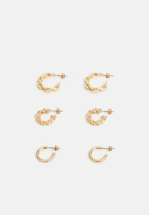PCSISA EARRINGS 3 PACK - Earrings - gold-coloured
