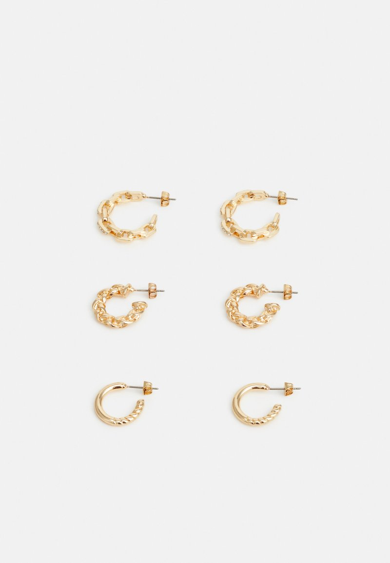 Pieces - PCSISA EARRINGS 3 PACK - Øreringe - gold-coloured