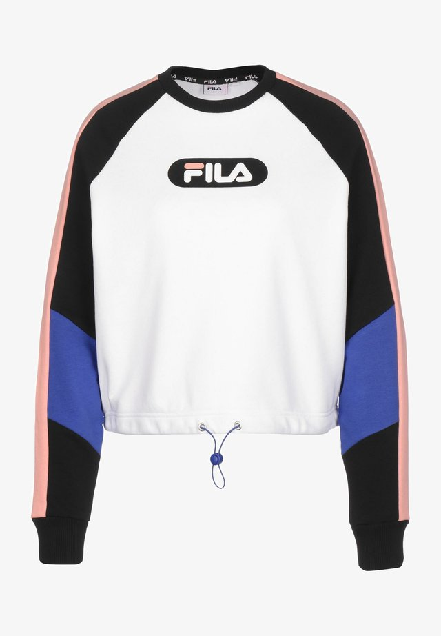 BANE BLOCKED CROPPED - Sudadera - bl/br wh/coral/dazz blue
