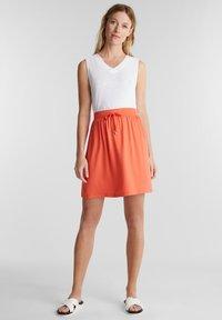Esprit - SKIRT - Mini skirt - coral - 1