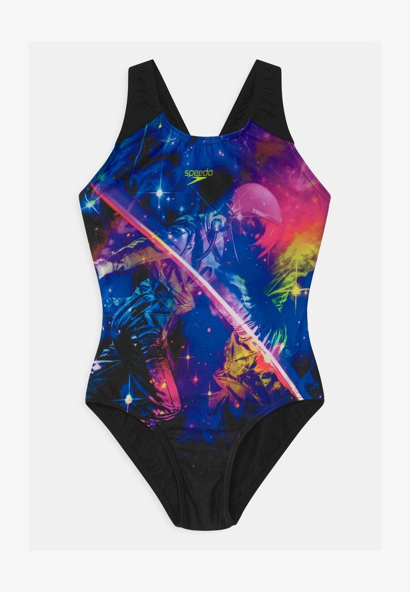 Speedo - DIGI - Swimsuit - black/violet