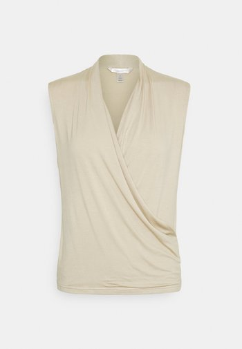 THREADSOFT WRAP - Print T-shirt - baja sand