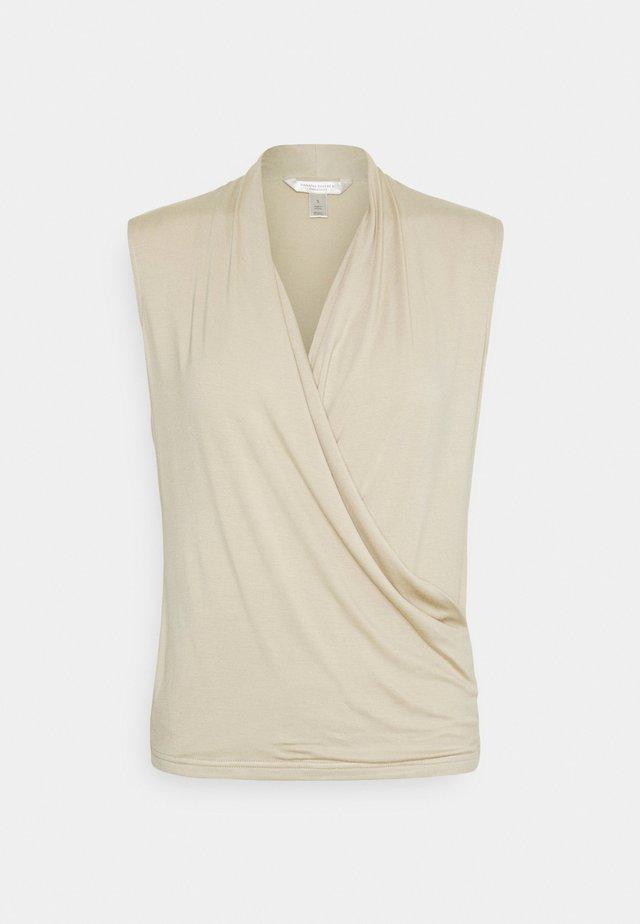 THREADSOFT WRAP - T-shirt con stampa - baja sand