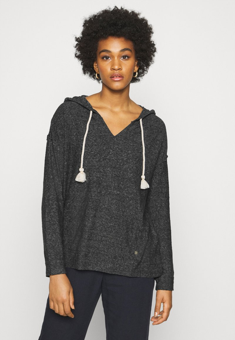 Roxy - LOVELY LIFE - Jersey con capucha - anthracite