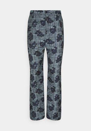 PIANO PANTS - Spodnie materiałowe - mint/blue