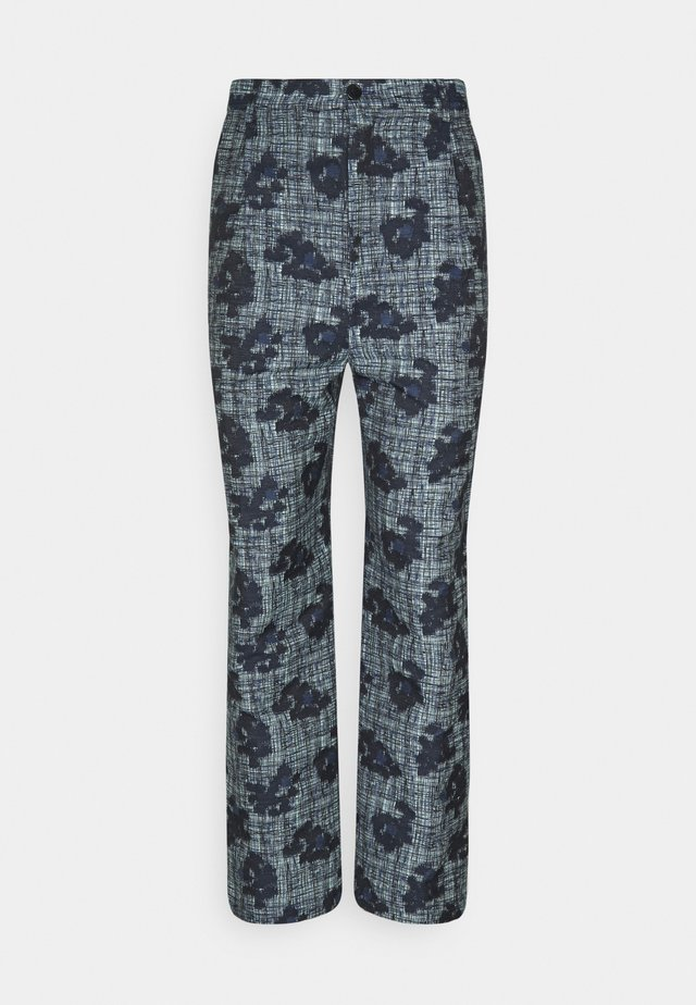 PIANO PANTS - Pantaloni - mint/blue
