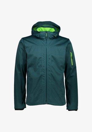 MIT KAPUZE - Soft shell jacket - türkis