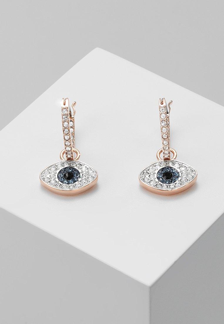 Women DUO HOOP EVIL EYE - Earrings