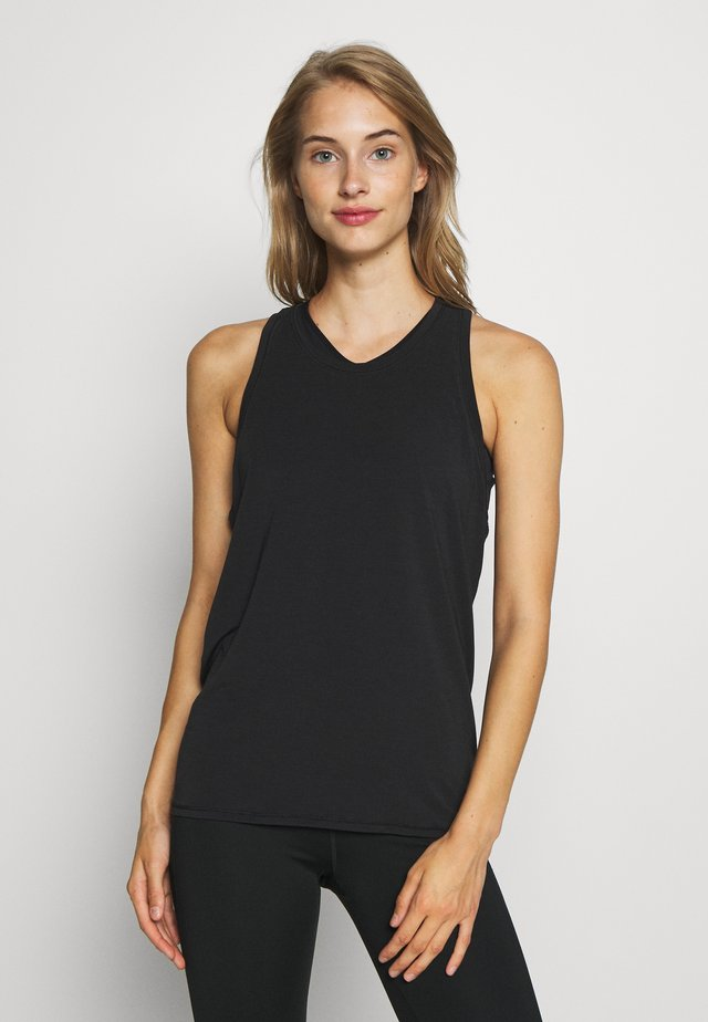 TIE BACK TANK NON HOT - T-shirt de sport - true black