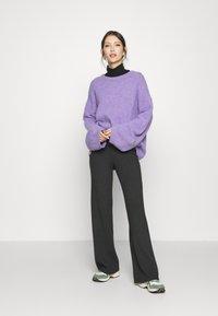 Vero Moda - VMNICHOLA TROUSERS - Trousers - dark grey melange - 1