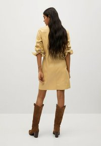 Mango - NASTIA - Shirt dress - giallo pastello - 2