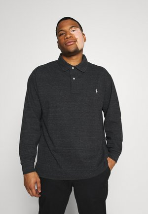 BASIC - Polo - black marl heather
