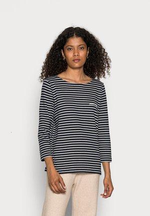 STRIPED - Long sleeved top - navy beige