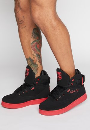 33 HI BASKETBALL - Skateskor - black /chinese red