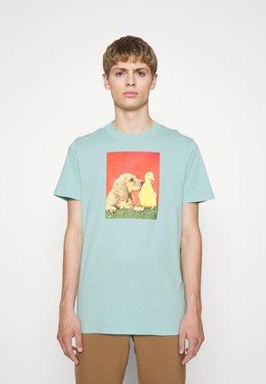 TEE UNISEX - T-shirt z nadrukiem - vert d'eau