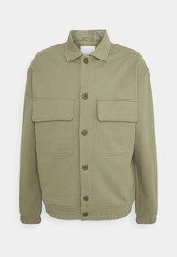 Zip-up sweatshirt - pale khaki