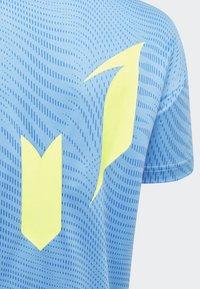adidas Performance - MESSI T-SHIRT - T-shirt imprimé - blue - 4