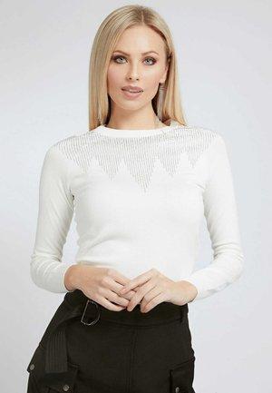 SCHMUCKAPPLIKATIONEN - Sweater - mehrfarbig/weiß