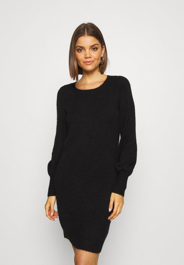 VMSIMONE O-NECK - Strikket kjole - black