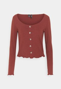 Vero Moda - VMGLADYS BUTTON TOP  - Cardigan - sable - 4