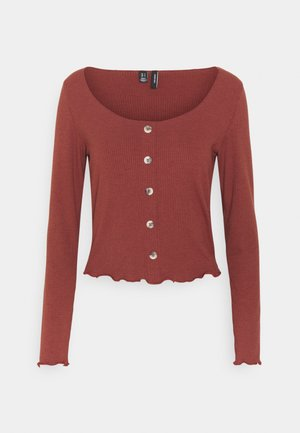 VMGLADYS BUTTON TOP  - Strikjakke /Cardigans - sable
