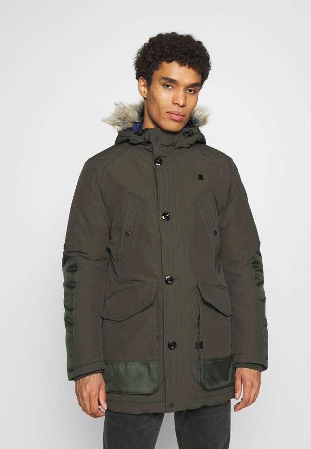 VODAN PDD HDD FAUX FUR PARKA - Winter coat - olive