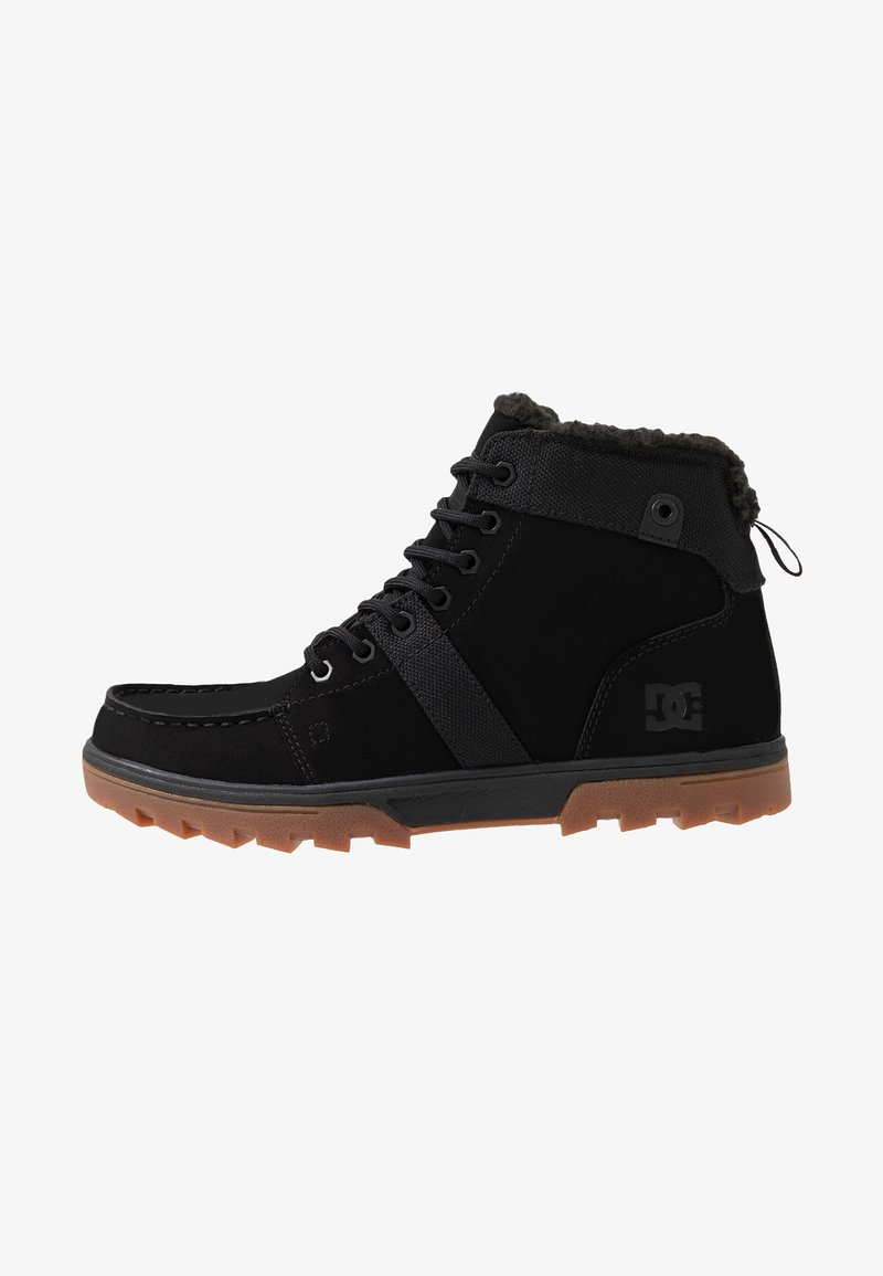DC Shoes - WOODLAND - Korkeavartiset tennarit - black