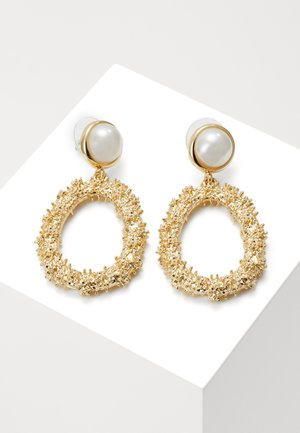 LIGHT PENDANT - Earrings - gold-coloured/white