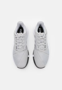 adidas Performance - COURTJAM BOUNCE - Multicourt tennis shoes - grey two/silver metallic/core black - 3